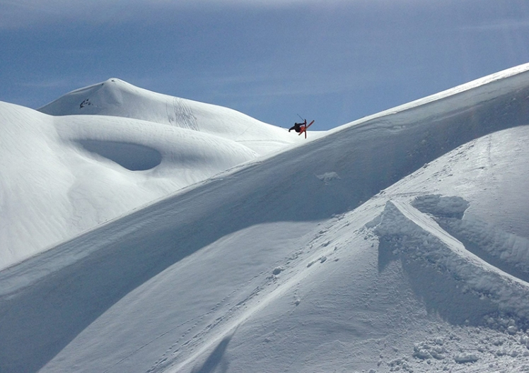 Joe Schuster taking advantage of the soft backcountry in British Columbia