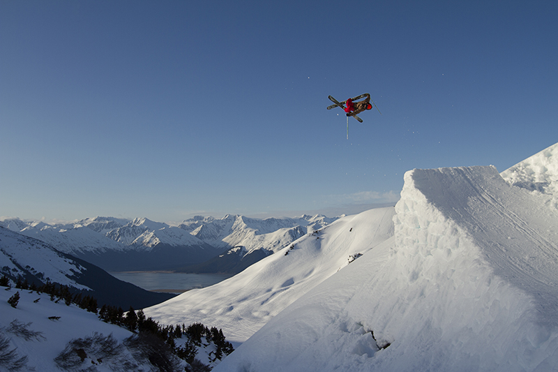 Joe Schuster going big in Alaska. Ph: Travis Smith