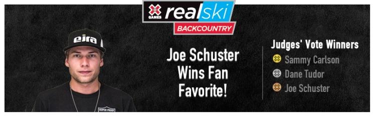 Liberty Skis Joe Schuster Wins X Games RealSki Fan Favorite